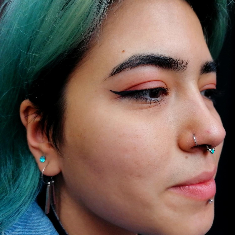 siyah,halka,burun,piercing