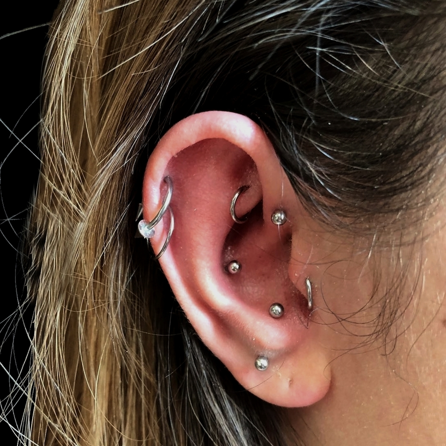antitragus,rook,piercing,istanbul