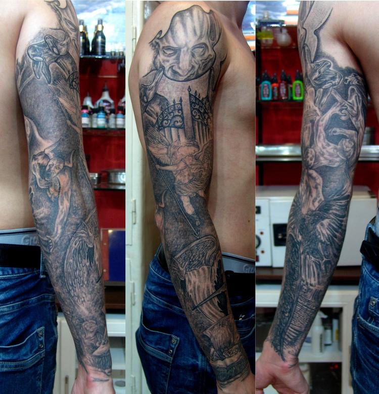 cennet,cehennem,dovmesi,kol,dovmeleri,heaven,hell,tattoo