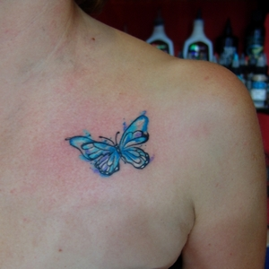 watercolor,butterfly,tattoo,kelebek,dovmesi
