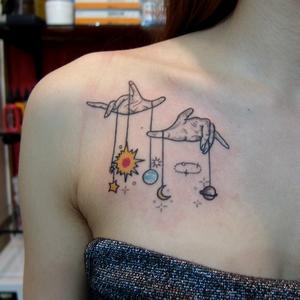 planet,tattoo,gezegen,dovmeleri