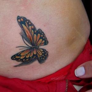 3,boyutlu,dövme,kelebek