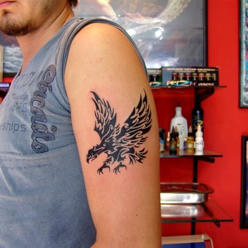 tribal,eagle,tattoos