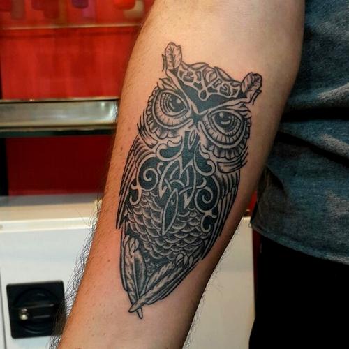 baykuş,dövmeleri,geometric,owl,tattoo