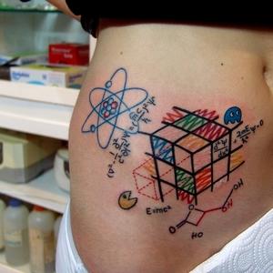 küp,matematik,dövme,cube,tattoos