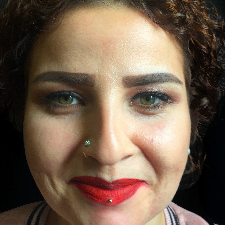 horizontal,lip,piercing,delen,yerler