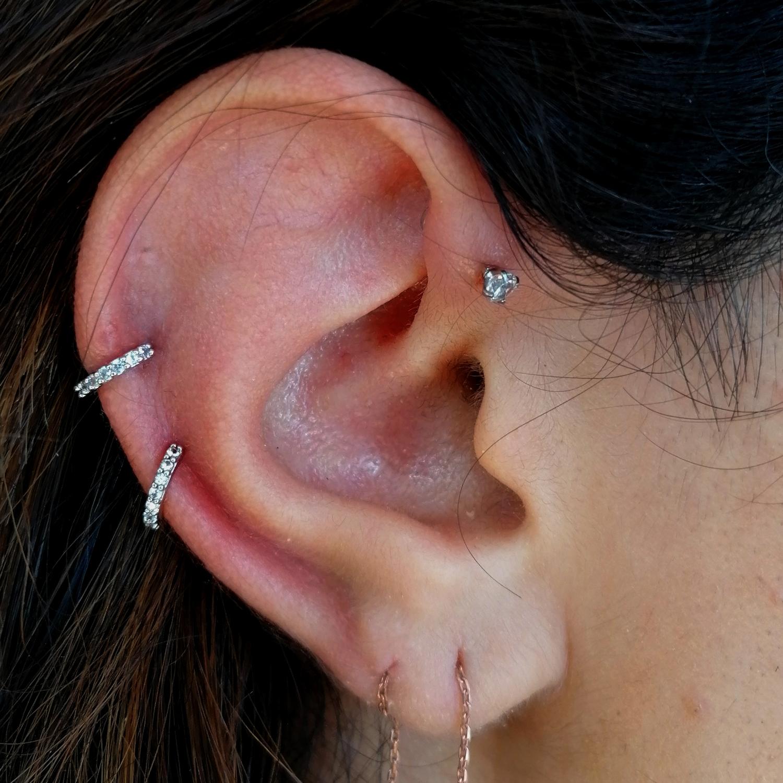 taşlı,tasli,helix,forward,piercing