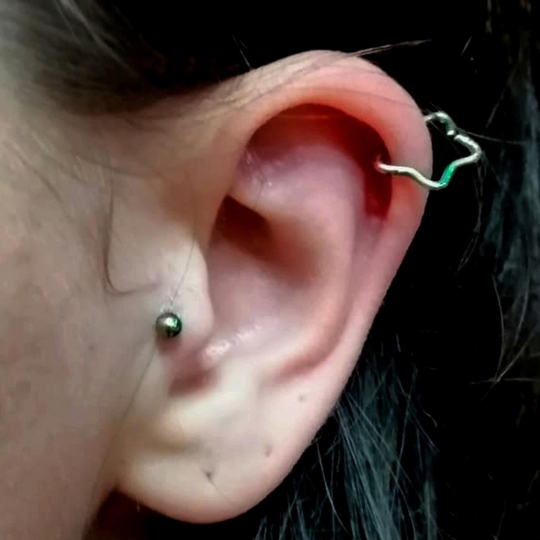 yildiz,star,helix,kikirdak,piercing
