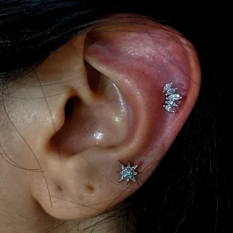 kraliçe,taci,helix,kikirdak,piercing