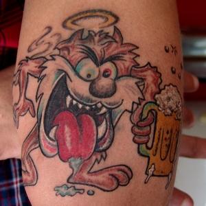 tasmania,monster,tattoo,tazmanya,canavari,dovmesi