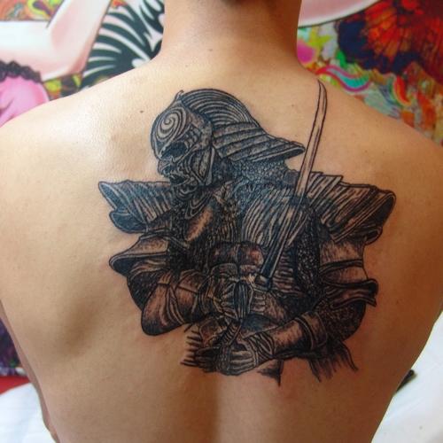 samurai,tattoo,savasci,samuray,dovmeleri
