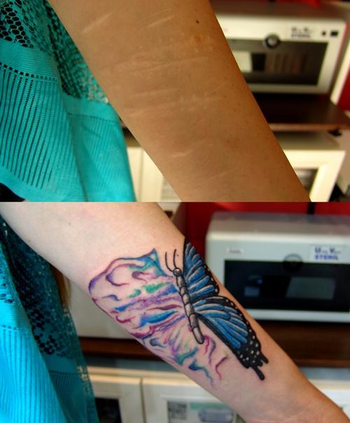 derin,kesik,faca,izi,kapatma,kelebek,dovmeleri