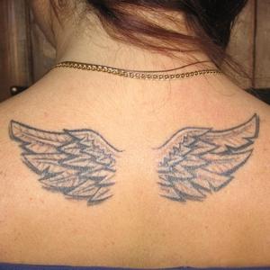 melek,kanat,dövmeleri