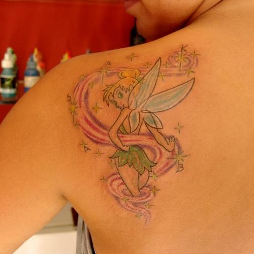 tinkerbell,tattoos,dovmeleri