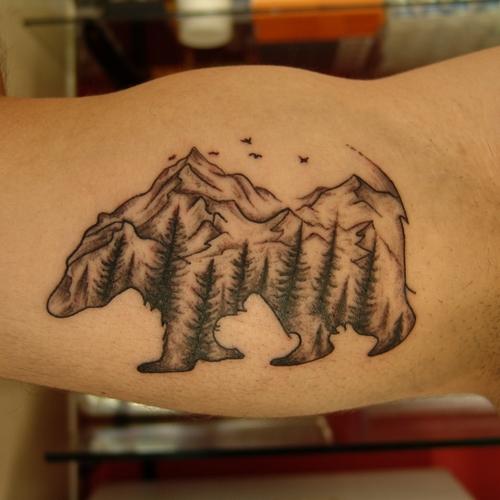 ayı,ayi,dovmeleri,dovme,bear,tattoo