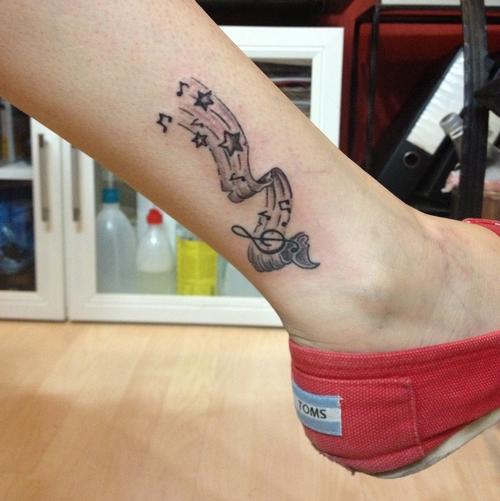 müzik,nota,dövmeleri