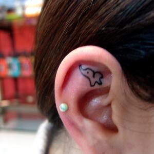 kulak,dövmeleri,fil,dovmesi,ear,tattoos