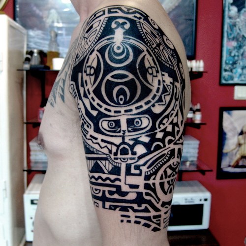 half,sleeve,maori,tattoo